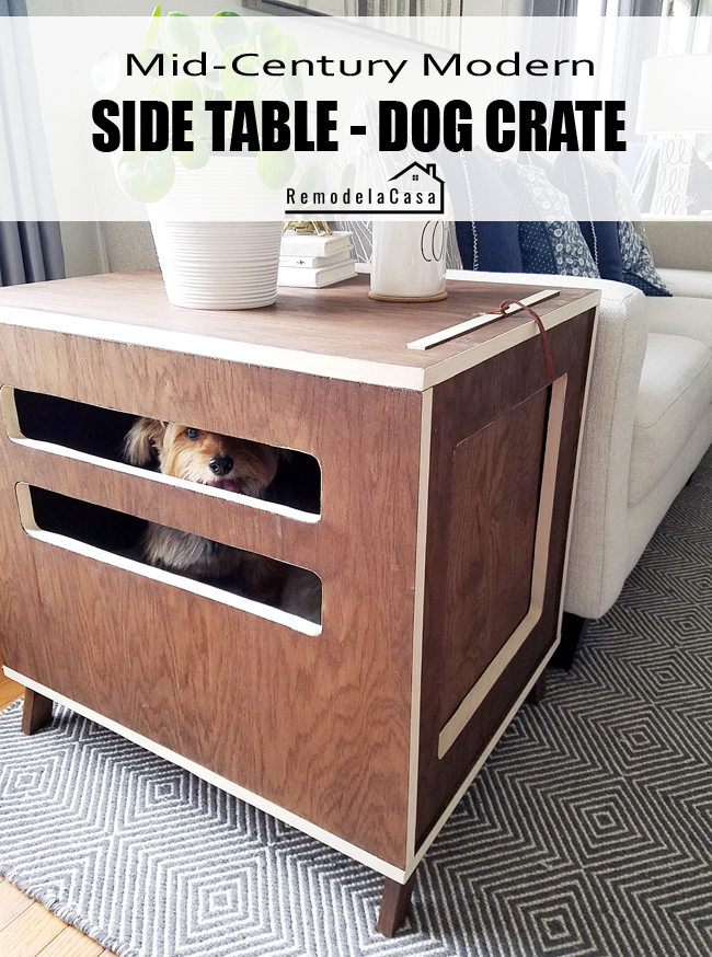 21 Stylish Dog Crates - Mid-Century Knockoff Pet Crate by Remodel la Casa