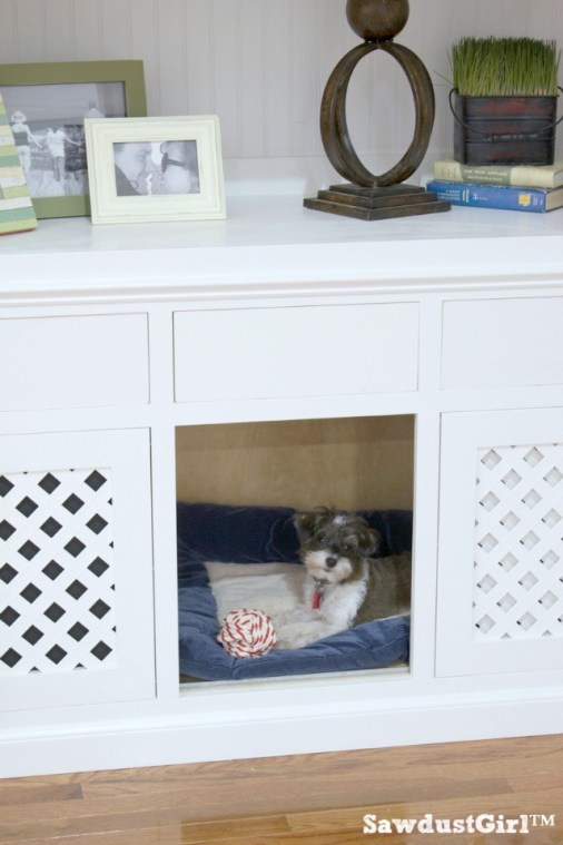 Book Shelf Dog Crate by Sawdust Girl