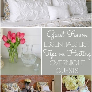 Guest room essentials list tips on hosting overnight guests
