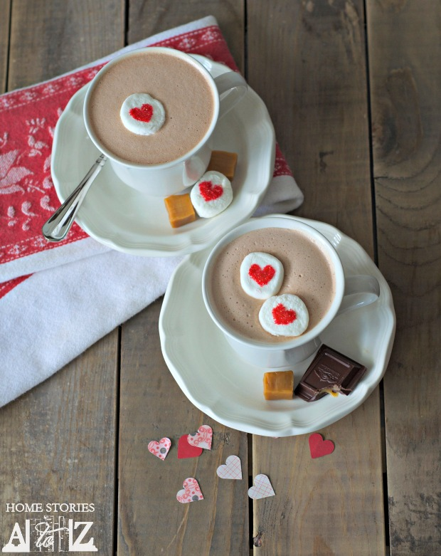 boozy caramel french hot chocolate