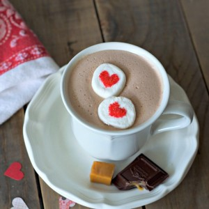 boozy caramel whipped hot chocolate