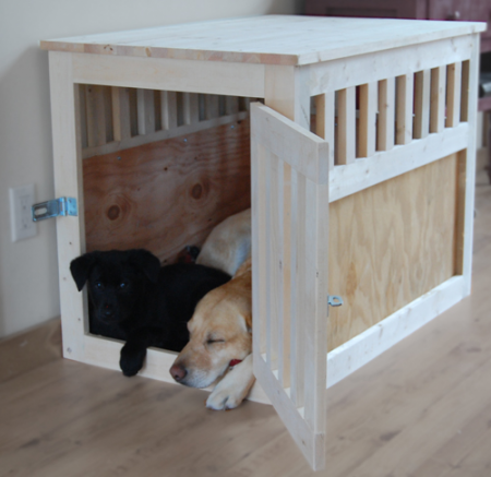 diy table dog crate