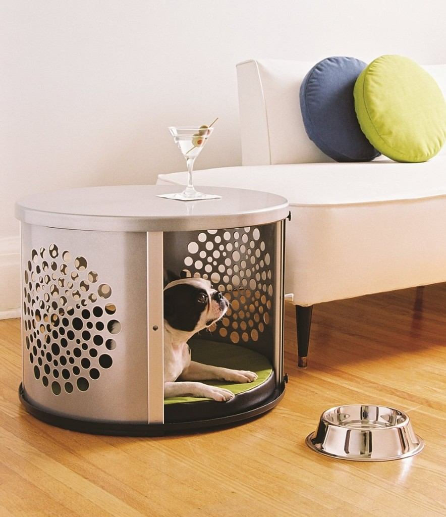 How To Make A Dog Crate End Table