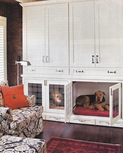 21 stylish dog crates home stories a to z for Dog room furniture