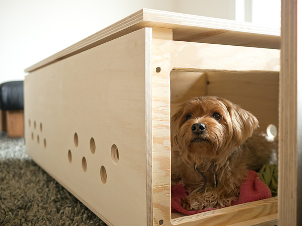 Here Is A DIY Coffee Table Being Used As A Double Dog Crate There Is