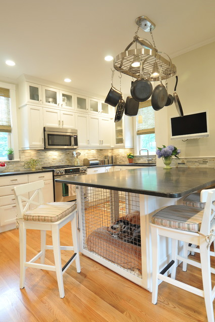 dog crate kitchen island