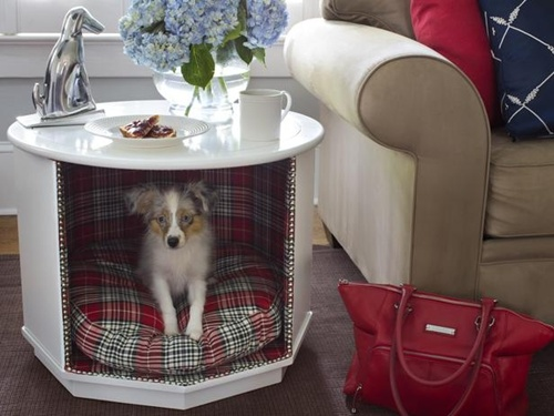 Or you can disguise a crate underneath an end table this end table - 21 Stylish Dog Crates Home Stories A To Z