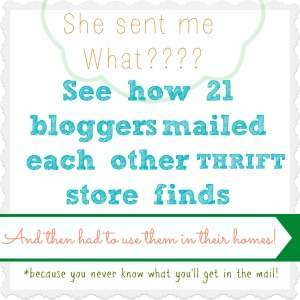 21 bloggers mailed each other thrift store stuff then had to use them!
