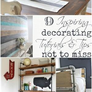 9 inspiring decorating tutorials and tips