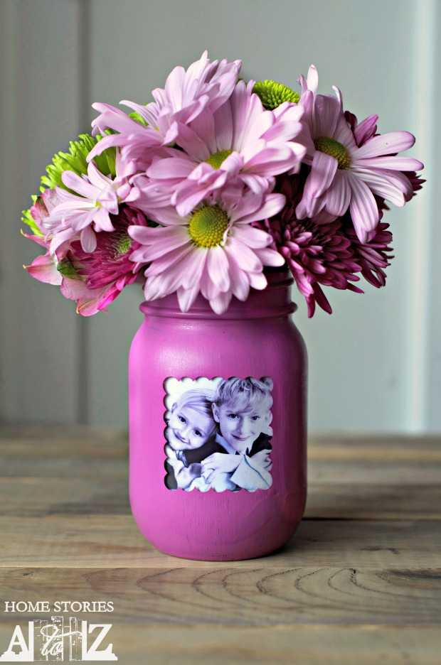 mason jar picture frame vase home stories a to z. Black Bedroom Furniture Sets. Home Design Ideas