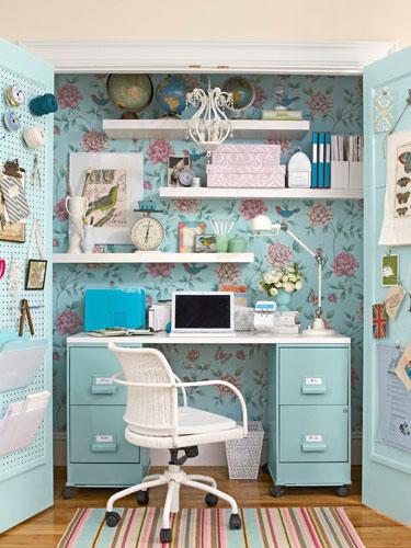 blue pastel closet