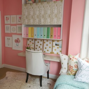 craft room sherwin williams hopeful pink