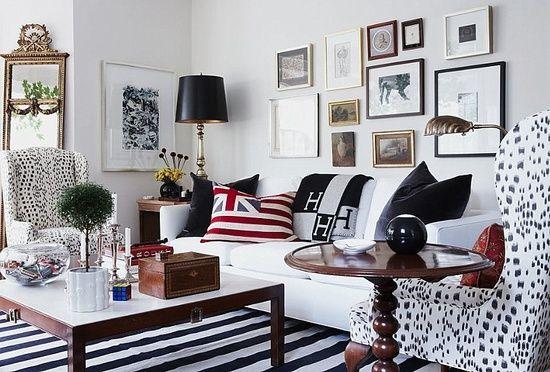 dalmatian print wingback chairs