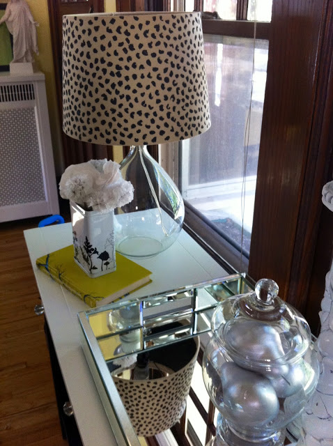 diy dalmatian print lampshade