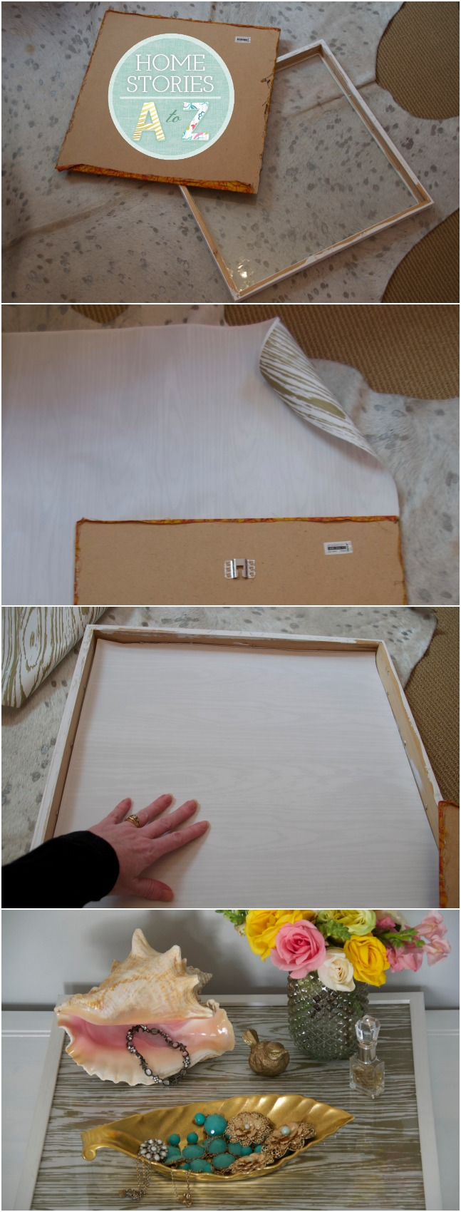 frame to tray