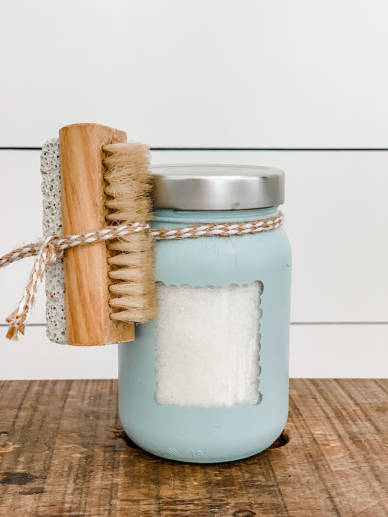 paintd mason jar gift
