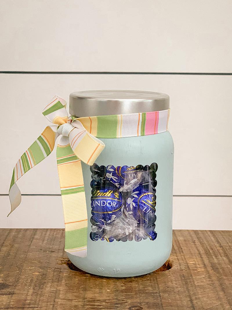 painted mason jar gift idea