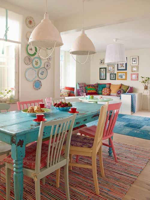 pastel kitchen chairs