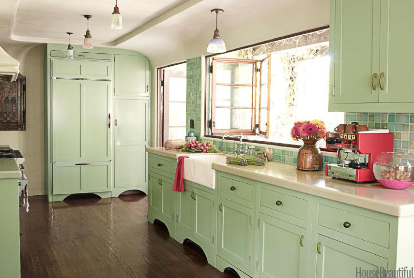 pastel mint kitchen