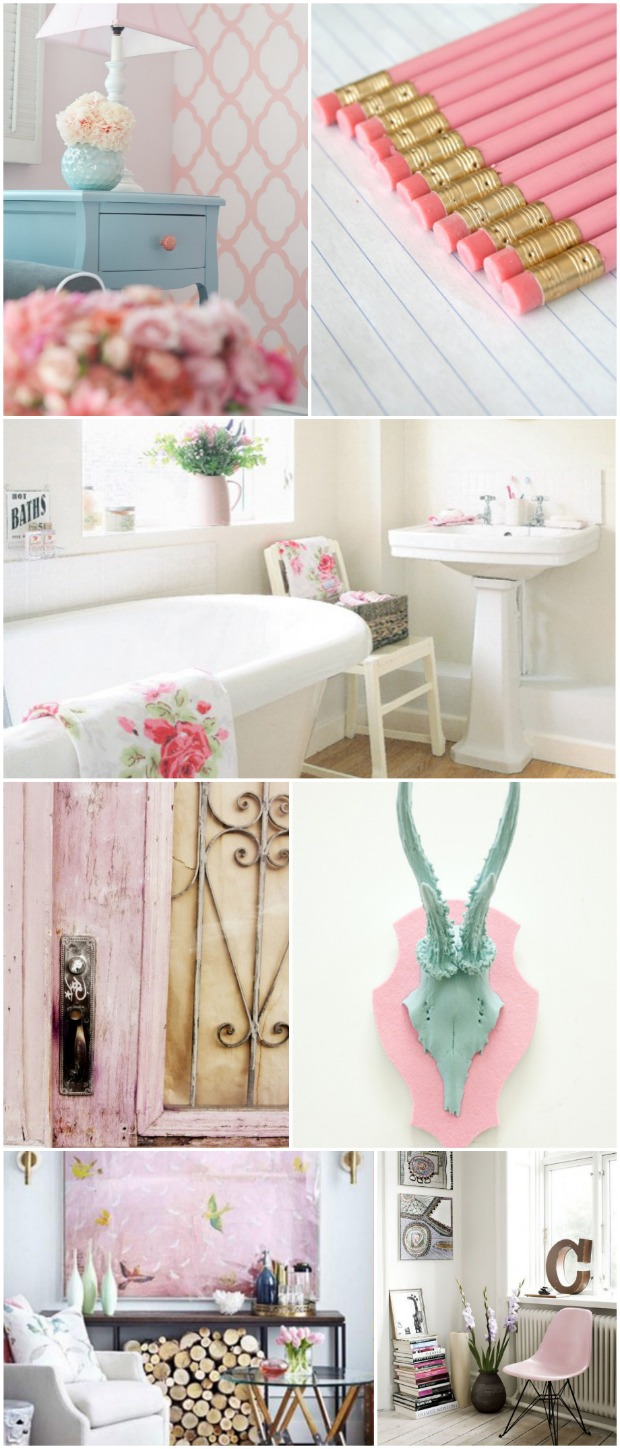 pastel pink color trend