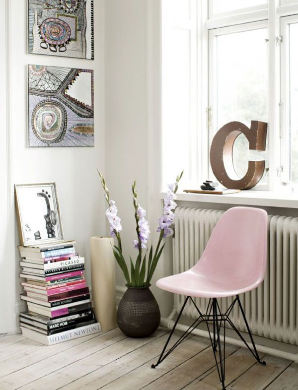 pink pastel chair