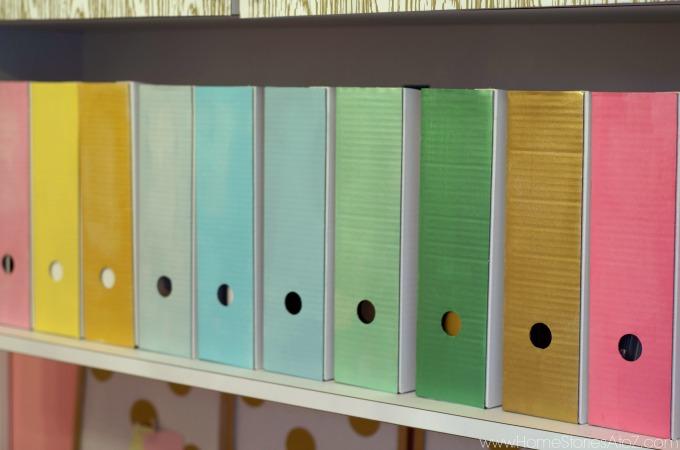 Magazine box files painted pretty colors