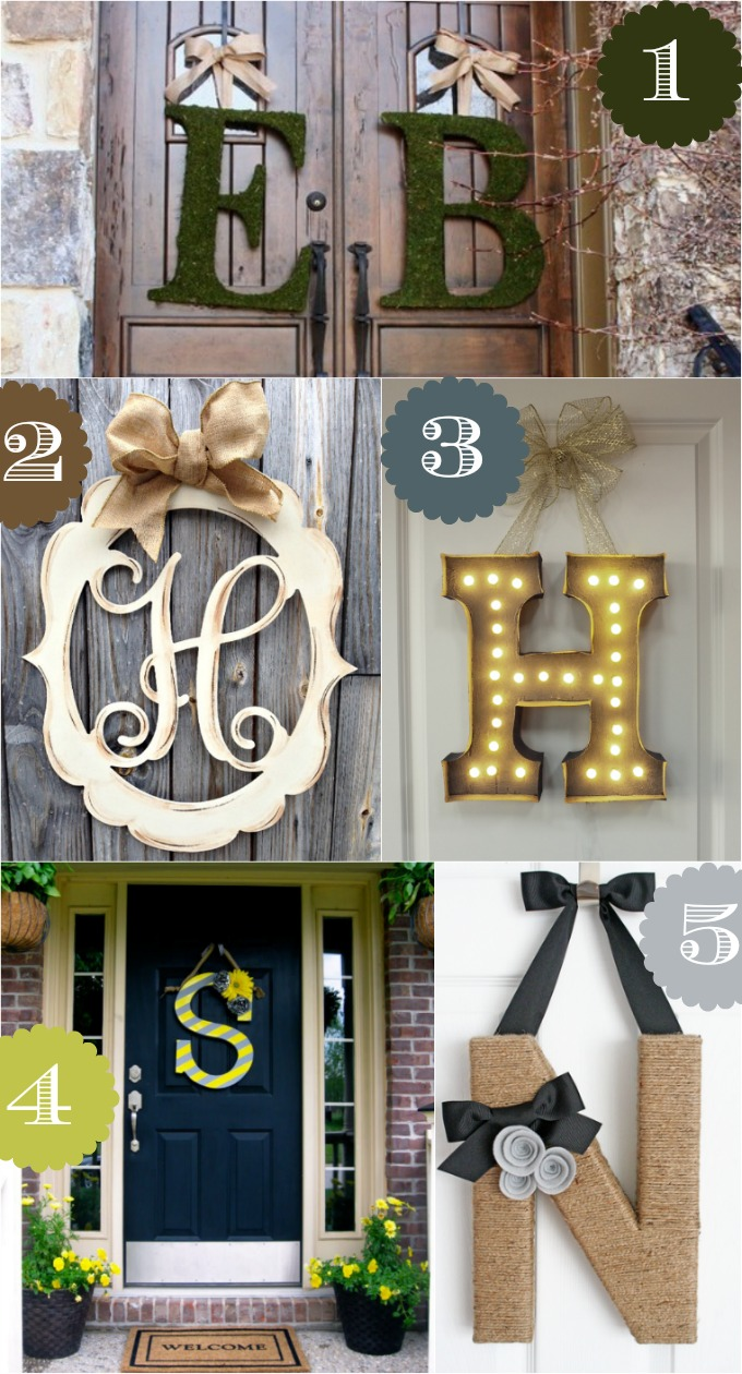 36 creative front door decor ideas not a wreath home for Front door decor