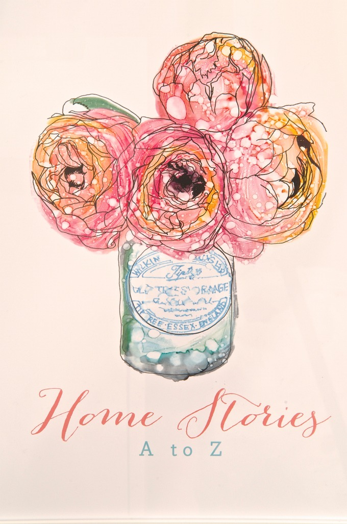 Peonies Home Stories A to Z minted print