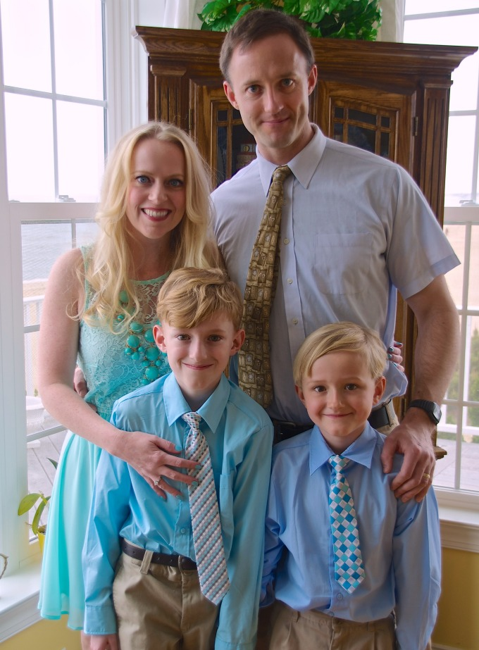 family at easter