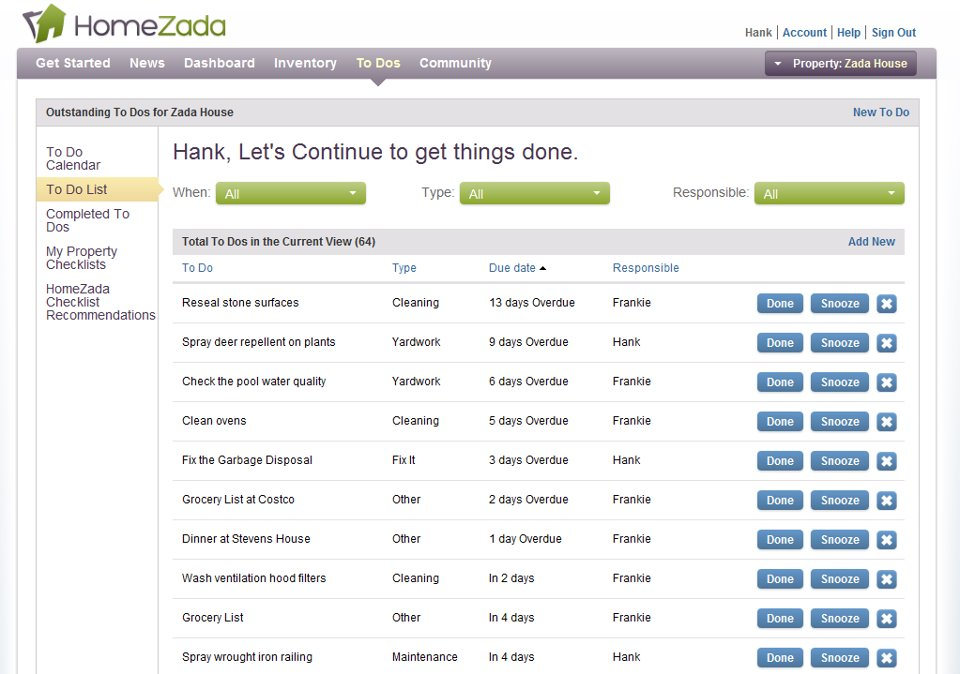 homezada to do list