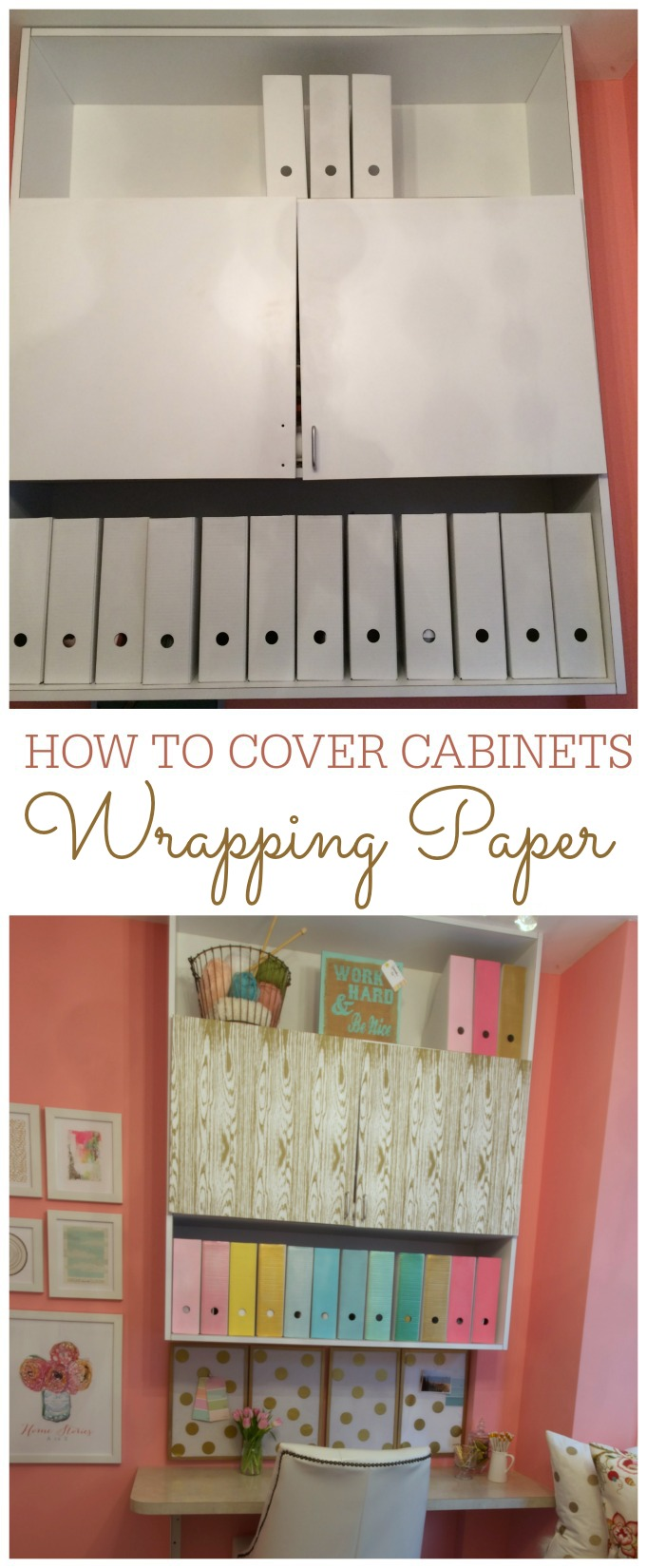 How To Cover Cabinets With Wring Paper