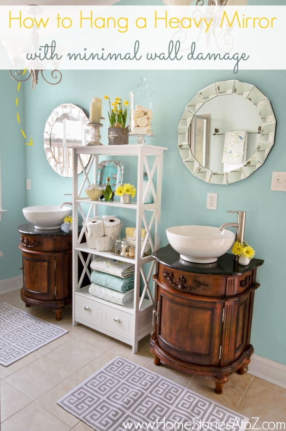 How To Hang A Heavy Mirror With Minimal Wall Damage