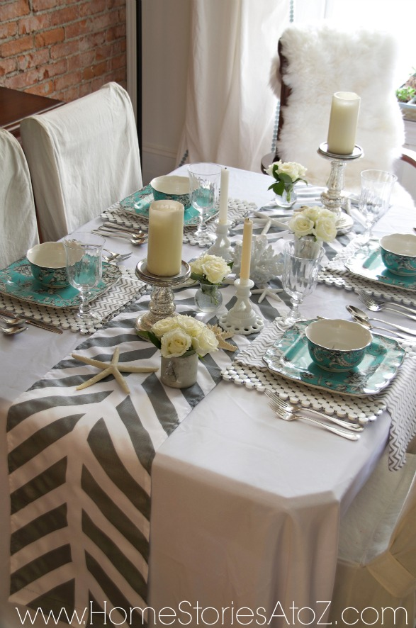 how to make a painted table runner. Black Bedroom Furniture Sets. Home Design Ideas