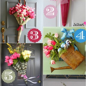 spring door decor ideas