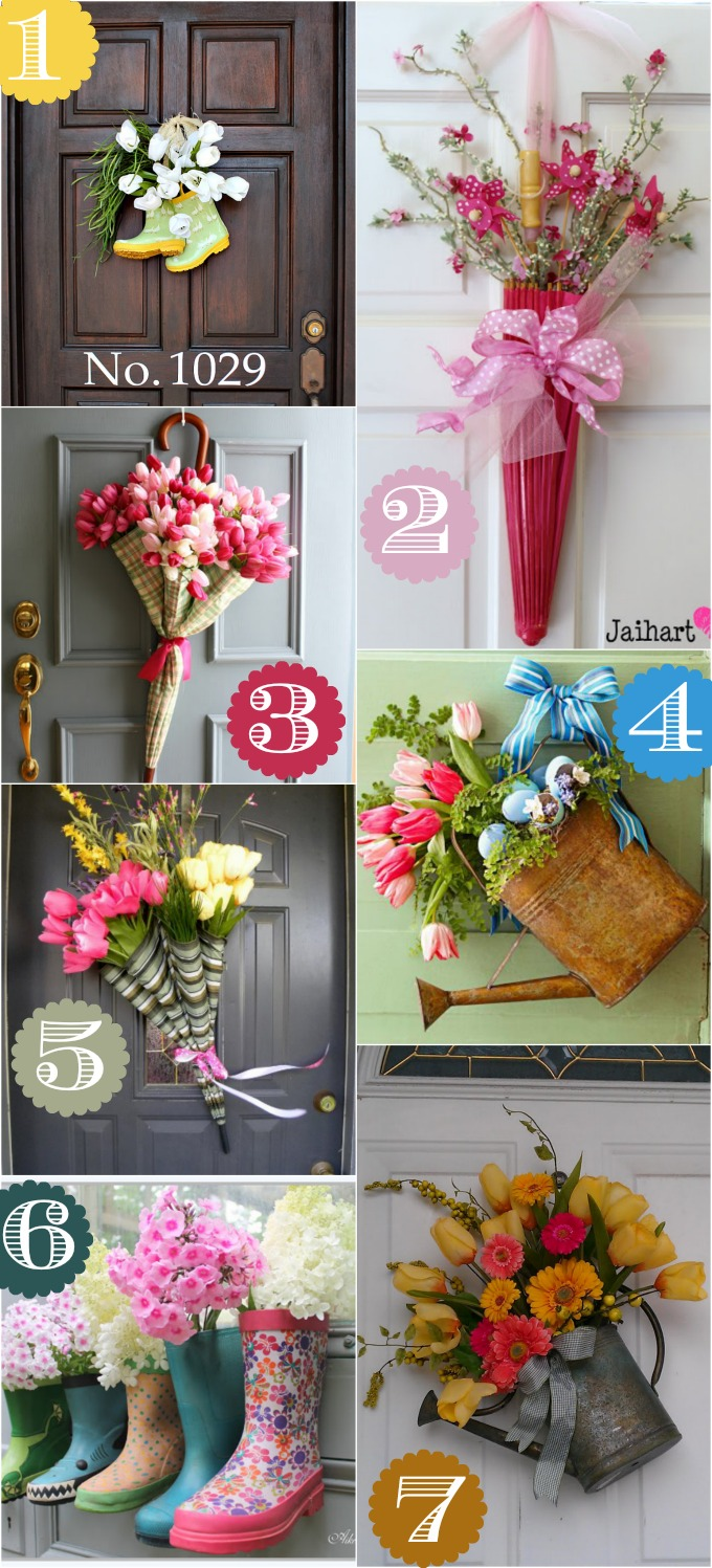 36 creative front door decor ideas not a wreath spring door decor ideas junglespirit
