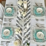 how to make spray painted table runner