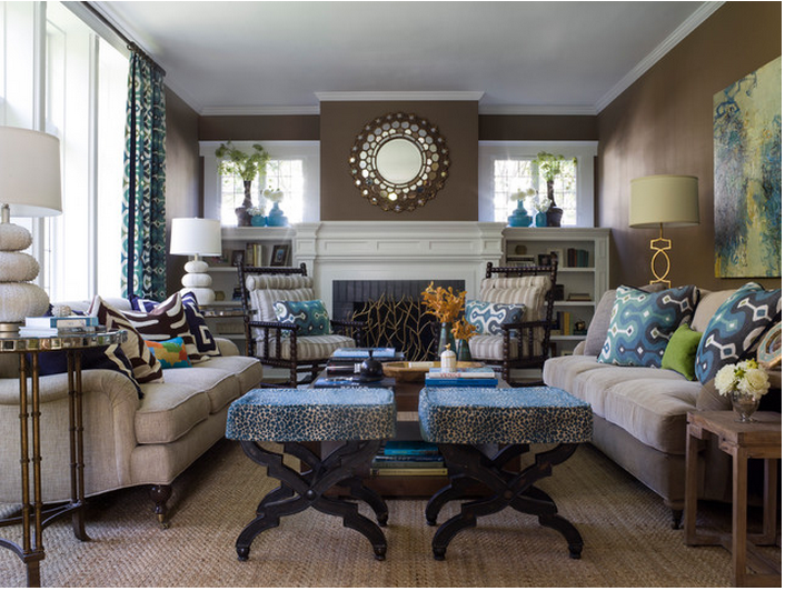 Transitional Living Room Example Via Houzz Contemporary Kitchen