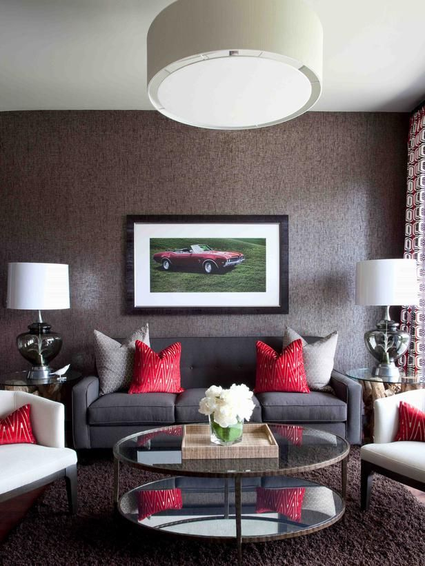 Cool Burgundy Sofa Living Room