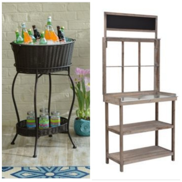 outdoor beverage station ideas