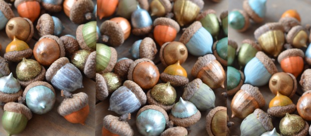 painted acorns tutorial