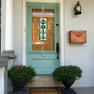Paint Stick Address Plaque Door Decor