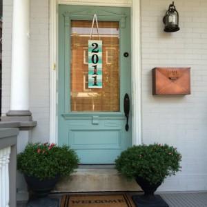 Genial Paint Stick Address Plaque Door Decor