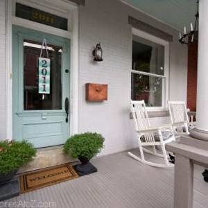 city row home porch