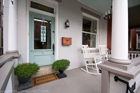 city row home porch