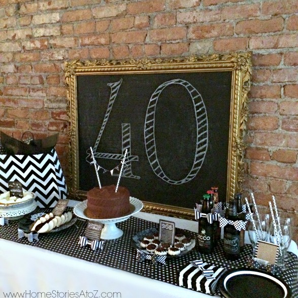 40th Birthday Party Idea for a Man - Home Stories A to Z