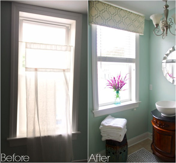 Window treatment before after