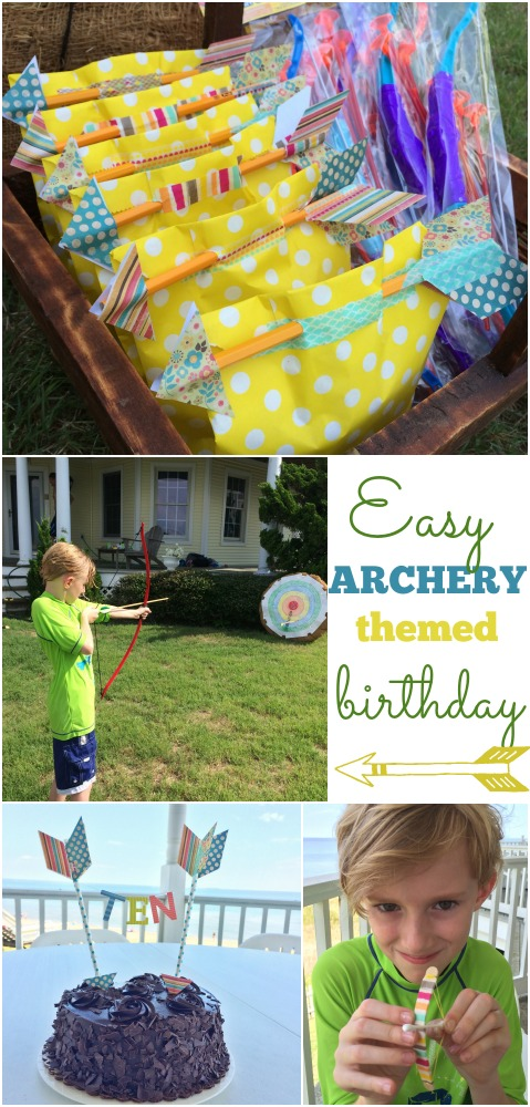 archery themed birthday party