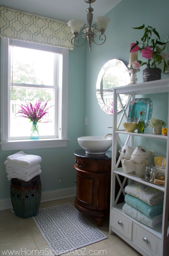 window cornice bathroom