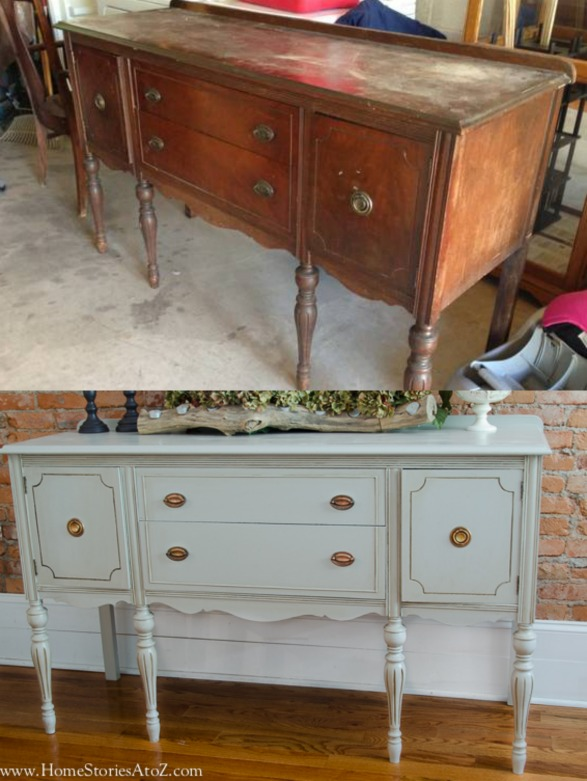 how to paint furniture rh homestoriesatoz com vintage buffet table lamps vintage buffet table ideas