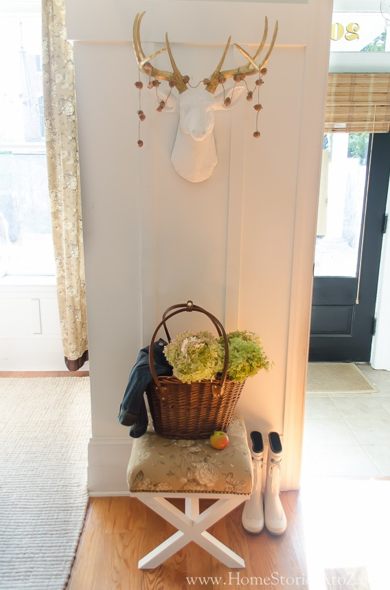 fall mudroom entryway